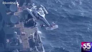 برخورد یک کشتی باربری فیلیپینی با ناو جنگی آمریکایی