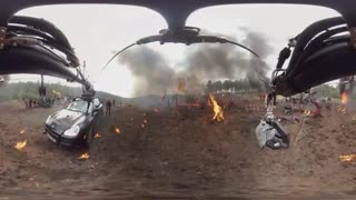ویدیو 360 درجه : پشت صحنه فیلم اکشن Transformers