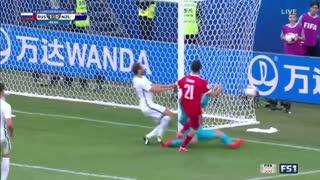 خلاصه بازی روسیه 2-0 نیوزیلند