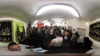 ویدیو 360 درجه : ماتم داری شب 21 ماه رمضان توسط مسلمانان شهر منچستر انگلیس