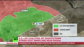 آمریکا جنگنده ارتش سوریه در جنوب شهر رقه را هدف قرارداد