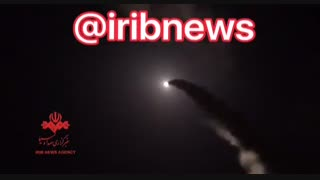 لحظه شلیک موشک  های سپاه پاسداران به مواضع داعش
