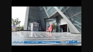 نظافت سطوح کف و رمپ به وسیله اسکرابر صنعتی خودرویی