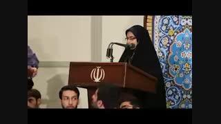 تفاوت نطق پسران دانشجو و دختران دانشجو در دیدار اخیر با رهبر معظم انقلاب (رمضان 96)