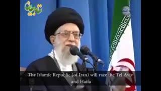 اگر غلطی از انها سر بزند جمهوری اسلامی فی العالی وحیفا را با خاک یکسان خواهد کرد