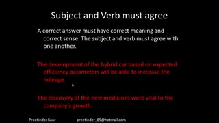 PerfectScores  SC  Part 2 - Subject Verb Agreement