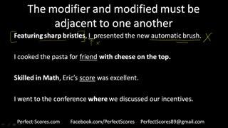 PerfectScores  SC  Part 5 - Modifiers
