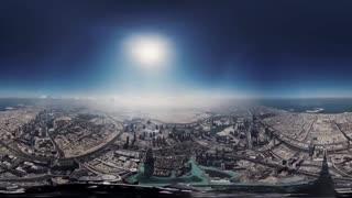 ویدیو 360 درجه : تماشای شهر دوبی از بالاترین نقطه برج خلیفه