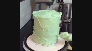 خامه کشی و تزیین کیک