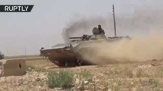 ارتش عربی سوریه داعش از منطقه خانیسیر حلب را بیرون راند