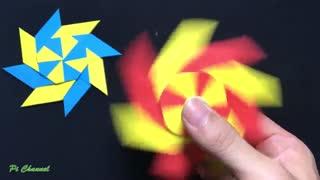 آموزش ساخت اسپینر ضد استرس با کاغذ