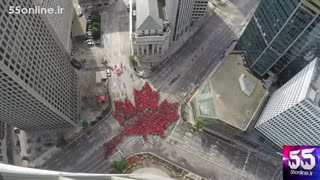 تایم لپس 2500 نفری شهروندان کانادا به مناسبت 150 سالگی کشورشان