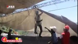 سایهبانی که حین سخنرانی استاندار از جا کنده شد
