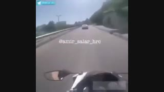 کورس خطرناک آئودی و موتور سنگین در اتوبان مدرس تهران...