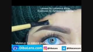 لنز رنگی لومینوس   بلو| DibaLens.com- Luminous Blue
