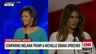 مقایسه سخنرانی های ملانی ترامپ و میشل اوباما