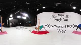 ویدیو 360 درجه : آموزش ورزش یوگا ویژه دختران !