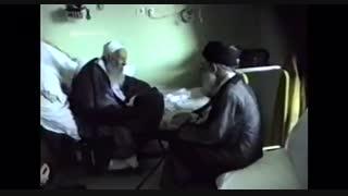 دیدار رهبر انقلاب با عارف با الله ایت الله بها الدینی