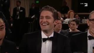 دریافت جایزه گلدن گلوب جیم پارسونس برای سریال The Big Bang Theory