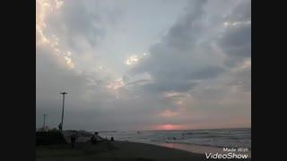 دیروز/غروب/دریا/شنا