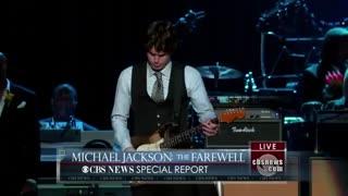 ادای احترام جان مایر، درمراسم وداع با مایکل جکسون (پادشاه پاپ) اجرای ترانهی Human Nature با گیتار، از آلبوم تریلر مایکل جکسون