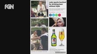 بازتاب گسترده آبجو خوری آزاده نامداری در رسانه های ایران و جهان