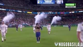 حرکات لیونل مسی مقابل رئال مادرید ( پیش فصل )