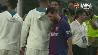 پشت صحنه بازی بارسلونا و رئال مادرید (  پیش فصل )