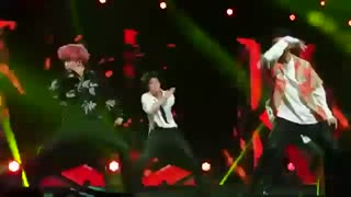 BTS fire . Music Bank in Singapore