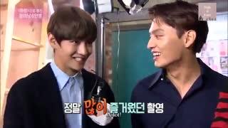 Kim Taehyung در مصاحبه با بازیگران Hwarang با زیرنویس انگلیسی