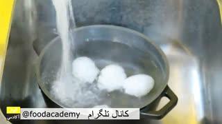 طرز تهیه تخم مرغ عسلی در فودآکادمی