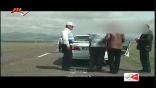 درگیری ابلهانه راننده ماکسیما با پلیس کنترل نامحسوس.