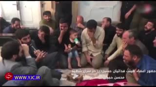 مداحی سید رضا نریمانی در منزل شهید محسن حججی