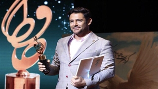 جایزه به محمدرضا گلزار بعد از 17 سال در جشن حافظ