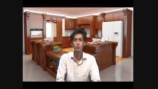 طراحی کابینت آشپزخانه قبل از کاشی آشپزخانه و تاسیسات