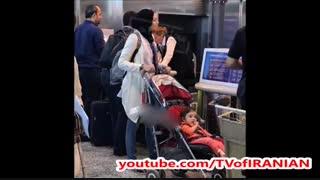 عکس لورفته بدون حجاب آزاده نامداری در فرودگاه میلان