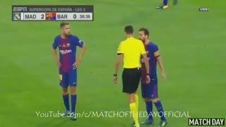 خلاصه بازی رئال مادرید 2-0 بارسلونا