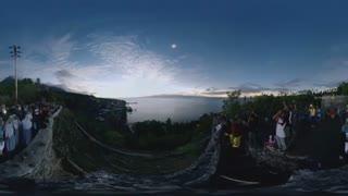 ویدیو 360 درجه : لحظه خورشید گرفتگی در بالی