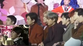 EXO reaction when BTS Taehyung appeared on screen