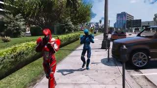نبرد لاکپشتهای نینجا و پاور رنجرز Power Rangers VS Teenage Mutant Ninja Turtles