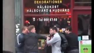 دعوا و درگیری بین چند ایرانی و چند سوئدی نژادستیز