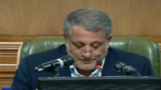 بغض محسن هاشمی هنگام نام بردن از پدرش در نخستین روز شورای شهر پنجم