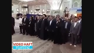 ملاقات شهردار و اعضای شورای شهر تهران با سید حسن خمینی