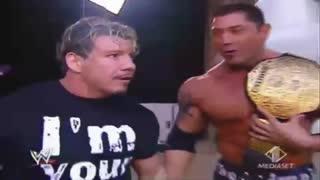 وداع غم انگیز با Eddie Guerrero  و رفتنش از کمپین مسابقات کشتی کچ Smack Down (کلیپ رحمان)