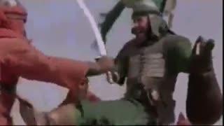 کلیپ زیبای شهادت  مظلومانه ی حضرت عباس علیه السلام در عاشورا