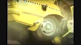 تست تصادف با 120 کیلومتر بر ساعت با خودرو قدیمی (فرسوده)
