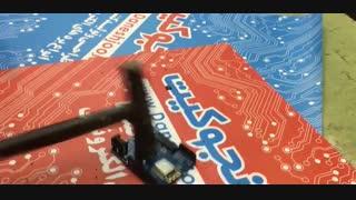 عملیات تخریب خنده دار آردوینو Arduino -تخریب الکترونیکی ترکوندن آردوینو با چکش!