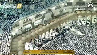 نماز صبح رویایی زیبای مکه مکرمه 7 ذو الحجه 1438
