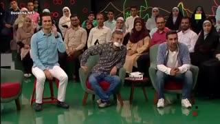 مسابقه ادابازی در خندوانه  محمد نادری و ارژنگ امیرفضلی در گروه جویندگان طلا پویا امینی و دانیال غفارزاده در گروه لبخنده
