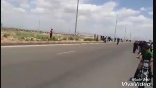 تصادف با موتور سنگین در تبریز